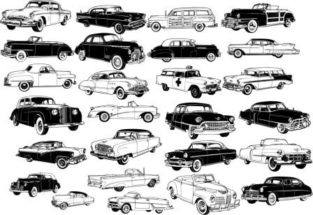 машина черно-белая картинка